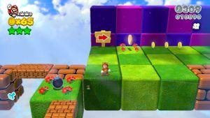 Luigi sighting in Super Block Land in Super Mario 3D World.
