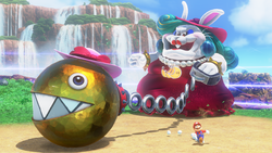 Screenshot of a boss from Super Mario Odyssey.