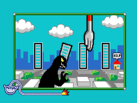 Artwork from the microgame Domino Block.