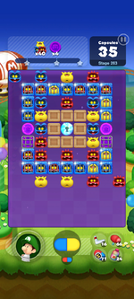Stage 263 from Dr. Mario World