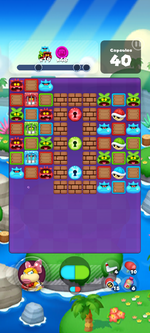 Stage 606 from Dr. Mario World