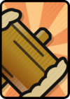 A Huge Hammer Card in Paper Mario: Color Splash.