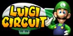 The logo for Luigi Circuit, from Mario Kart: Double Dash!!