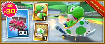 The Egg 1 Pack from the 2020 Yoshi Tour in Mario Kart Tour