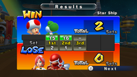 White Mage, Pink Yoshi, and Toad defeat Ninja, Pure White Mage, and Black Mage in a 3-on-3 Dodgeball match.