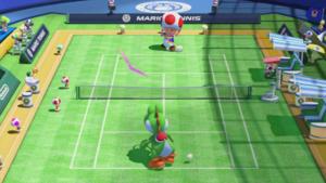 A Flat in Mario Tennis: Ultra Smash.