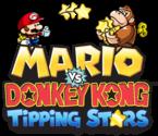 Alternate logo of Mario vs Donkey Kong: Tipping Stars, with a Mini Mario and a Mini Donkey Kong.