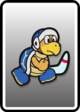 A Boomerang Bro card from Paper Mario: Color Splash