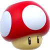 Artwork of a Super Mushroom from Super Mario 3D World.