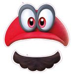 The icon for Cut out your own Cappy! from Nintendo Kids Club