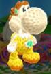 Daisy amiibo design from Poochy & Yoshi's Woolly World