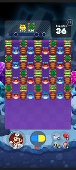 Stage 499 from Dr. Mario World