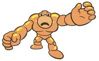 Artwork of Goro from the NES version of Wario's Woods.