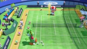 A Lob in Mario Tennis: Ultra Smash.