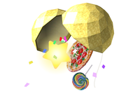 Artwork of a Party Ball from Super Smash Bros. Brawl.