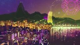 Rio de Janeiro in the opening movie.