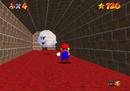 Mario finding a Boo