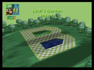 The eleventh hole of Luigi's Garden from Mario Golf (Nintendo 64)