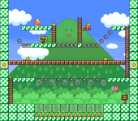 Level 3-7 map in the game Mario & Wario.