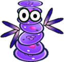 Sprite of a Tech Cursya from Super Paper Mario.