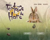 Title screen of Tortoise & Hare from WarioWare: Smooth Moves.