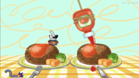 Slathered in Ketchup microgame in WarioWare: Get It Together!