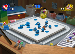 A duel in Paint Misbehavin' in Mario Party 8