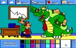 Mario and Luigi as business executives, and Koopa as a chairman.