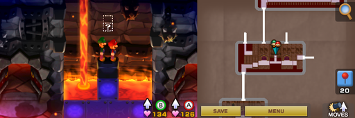 Location of the first hidden block in Bowser's Castle.