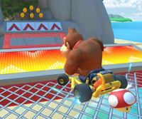 The Donkey Kong Cup Challenge from the Ice Tour of Mario Kart Tour