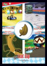 The Leaf Cup card from the Mario Kart Wii trading cards