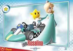 Mario Kart Wii trading card of Rosalina.