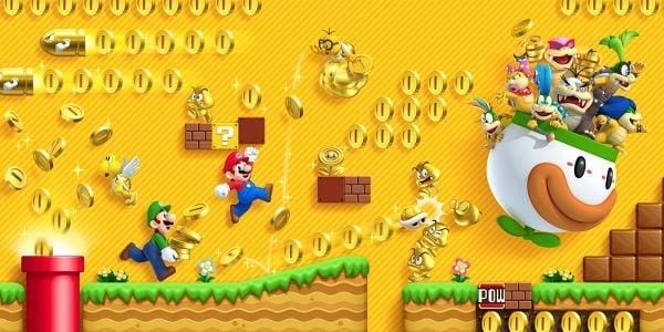 Banner for a Play Nintendo opinion poll on gold enemies from New Super Mario Bros. 2. Original filename: <tt>2x1-NSMB2_poll_2.0290fa98.jpg</tt>