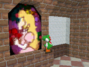 Yoshi in the room with The Princess's Secret Slide