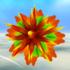 Floating thorny flower in Super Mario Galaxy.