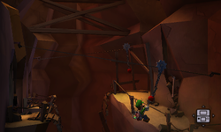 The Canyon Narrows segment from Luigi's Mansion: Dark Moon.