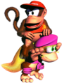 Diddy on Dixie Team-up DKC2.png