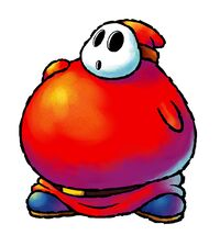 Artwork of a Fat Guy from Yoshi Topsy-Turvy