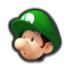 Baby Luigi's head icon in Mario Kart 8