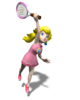Artwork of Princess Peach from Mario Power Tennis