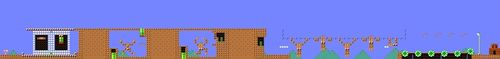 Course layout of Dr Kawashima's Athletic Training in Super Mario Maker.