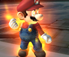 Mario about to use a Final Smash, from Super Smash Bros. Brawl