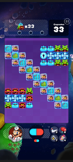 Stage 296 from Dr. Mario World