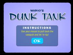 Screenshot of Wario's Dunk Tank