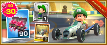 The Dasher II Pack from the Mario Bros. Tour in Mario Kart Tour