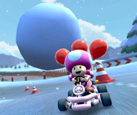The icon of the Morton Cup challenge from the 2019 Winter Tour and the Dry Bowser Cup challenge from the Snow Tour in Mario Kart Tour