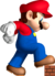 Artwork of Mega Mario about to crush a brick for New Super Mario Bros.