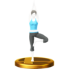 Tree trophy from Super Smash Bros. for Wii U