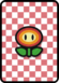 A Fire Flower Card in Paper Mario: Color Splash.