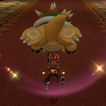 Bowser performing a trick. Mario Kart 8.